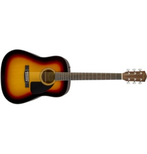 Fender CD-60 Dread V3 DS Acoustic Guitar, Sunburst, Walnut