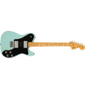 Fender Vintera Road Worn '70s Telecaster Deluxe Daphne Blue Electric Guitar & Case