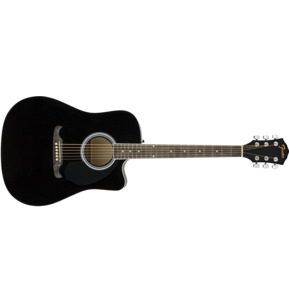 Fender FA-125CE Dreadnought Electro Acoustic Guitar, Black