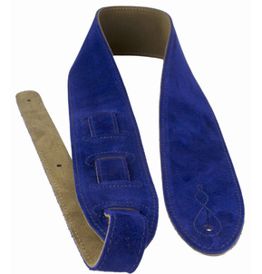 Leathergraft 'The Comfy' Suede Guitar Strap, Blue - Made In England