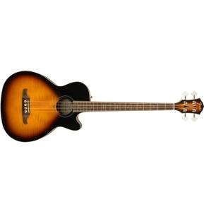 Fender FA-450CE Electro Acoustic Bass Guitar, 3-Colour Sunburst, Laurel
