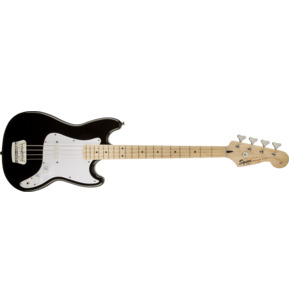 Fender Squier Affinity Series Bronco Black Short-Scale Electric Bass Guitar