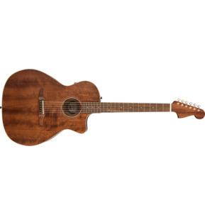 Fender Newporter Special All Mahogany Electro Acoustic Guitar, Natural, Pau Ferro