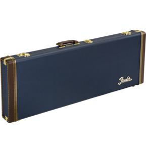 Fender Classic Series Wood Guitar Case - Strat/Tele, Navy Blue