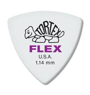 Dunlop Tortex Flex Triangle 1.14mm Guitar Pick - Pack of 6