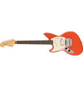 Fender Artist Kurt Cobain Jag-Stang Fiesta Red Left-Handed Electric Guitar & Case