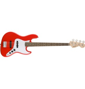 Fender Squier Affinity Series Jazz Bass, Race Red, Laurel
