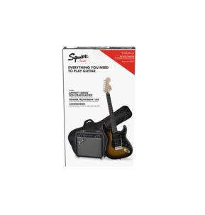 Fender Squier Affinity Series Stratocaster HSS Pack, Brown Sunburst, Laurel