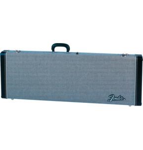 Fender G&G Deluxe Strat/Tele Hardshell Case, Black Tweed With Black Interior