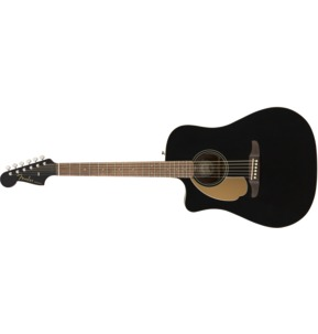 Fender Redondo Player Left-Handed Electro Acoustic Guitar, Jetty Black, Walnut