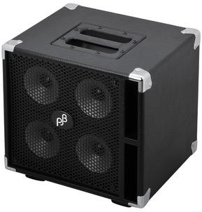 Phil Jones Bass Compact 4 C4 400 Watt Bass Extension Speaker Cabinet, Black