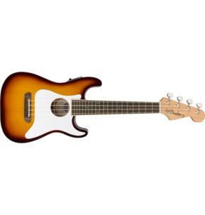 Fender Fullerton Strat Uke Electro Ukulele, Sunburst