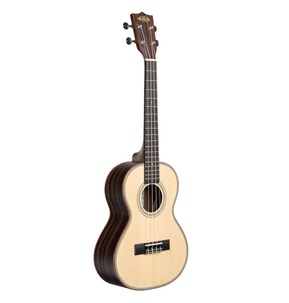 Kala KA-SSEBY-T Solid Spruce Top Striped Ebony Tenor Ukulele