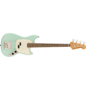 Fender Squier Classic Vibe '60s Mustang Surf Green Electric Bass Guitar