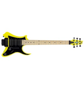 Traveler Guitar Vaibrant Standard V88S Electric Travel Guitar, Electric Yellow