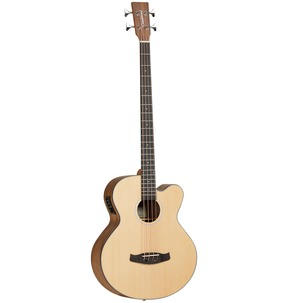 Tanglewood Discovery Exotic DBT AB BW Natural Electro Acoustic Bass Guitar
