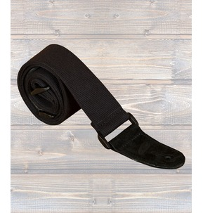 Leathergraft Cotton Webbing Guitar Strap, Black - Made In England