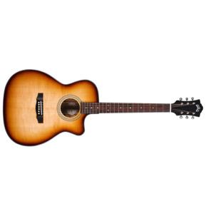 Guild Westerly OM-260CE Deluxe Burl Electro Acoustic Guitar, Edge Burst