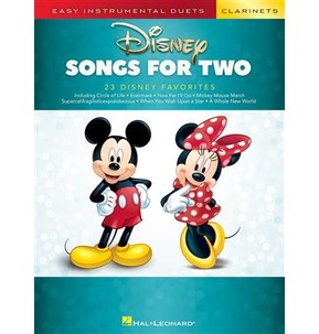 Easy Instrumental Duets - Disney Songs for Two Clarinets