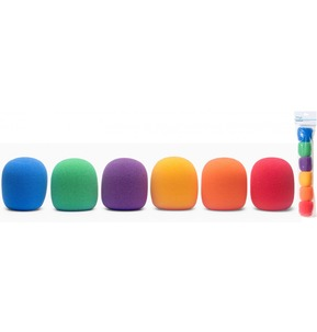 Stagg Microphone Coloured Wind Shield Pop Shield Pack of 6