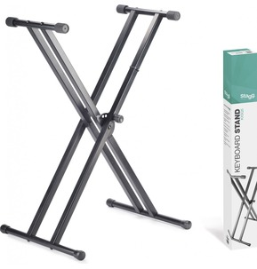 Stagg KXS-Q5 X Frame Keyboard Stand Double