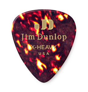 Dunlop Celluloid Tortoise Shell Extra Heavy Guitar Pick - Pack of 12