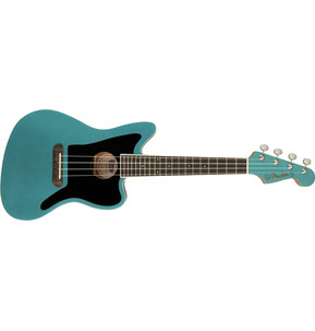Fender Fullerton Jazzmaster Uke Electro Ukulele, Tidepool