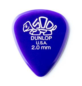 Dunlop Delrin 500 Standard 2.00mm Guitar Pick - Pack of 12