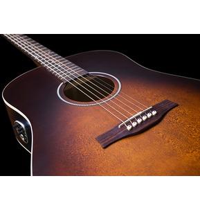 Seagull S6 Original Burnt Umber QIT Electro Acoustic Guitar