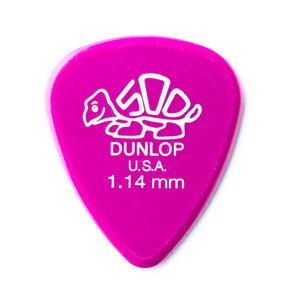 Dunlop Delrin 500 Standard 1.14mm Guitar Pick - Pack of 12