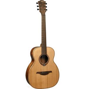 Lag Tramontane TRAVEL-RC Single-O Natural Travel Acoustic Guitar & Case