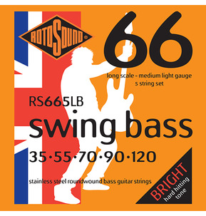 Rotosound RS665LB Swing Bass Long Scale 5 String Set 35-120 Bass Guitar Strings