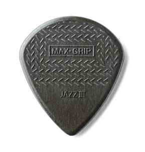 Dunlop Carbon Fiber Max-Grip Jazz III 1.38mm Guitar Pick - Pack of 6
