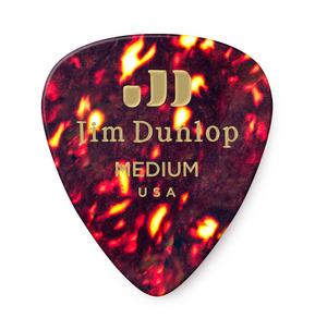 Dunlop Celluloid Tortoise Shell Medium Guitar Pick - Pack of 12