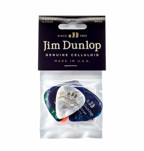 Dunlop Celluloid Medium Pick - Variety Pack of 12
