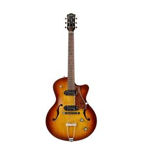 Godin 5th Avenue CW Kingpin II, Cognac Burst Archtop Semi Acoustic Guitar & Case