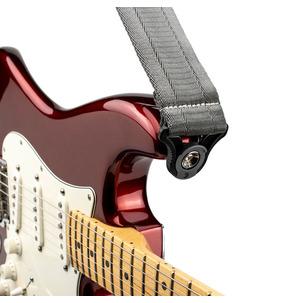 D'Addario Auto Lock Guitar Strap - Metal Grey