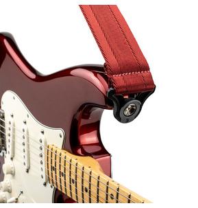D'Addario Auto Lock Guitar Strap - Blood Red