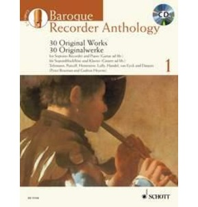 Baroque Recorder Anthology Book 1 Book and CD