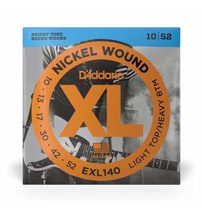 D'Addario EXL140 Nickel Wound Electric Guitar Strings, Light / Heavy, 10-52