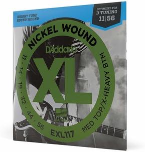 D'Addario EXL117 Nickel Wound Electric Guitar Strings, Medium / Heavy, 11-56