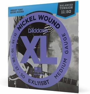D'Addario EXL115BT Nickel Wound Electric Guitar Strings, Balanced Tension, Medium, 11-50