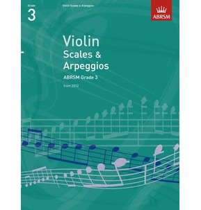 ABRSM Violin Scales and Arpeggios 2012 Grade 3