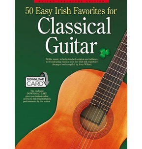 50 Easy Irish Favourites For Classical Guitar: Guitar Tablature Edition (Book & Download Card)