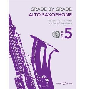 Grade By Grade for Alto Saxophone CD Included (Boosey & Hawkes) Grade 5