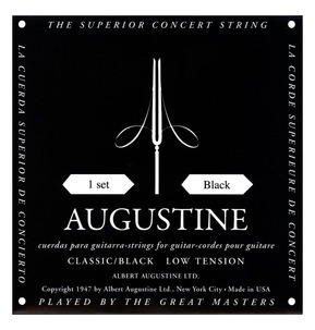 Augustine Black Low Tension Classical Guitar Strings