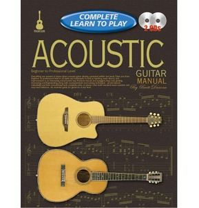 Complete Learn to Play Acoustic Guitar Manual Book /CD