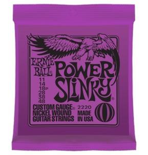 Ernie Ball Power Slinky Nickel Wound Electric Guitar Strings, 11-48