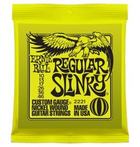 Ernie Ball Regular Slinky Nickel Wound Electric Guitar Strings, 10-46