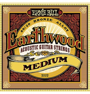 Ernie Ball Earthwood 80/20 Bronze Acoustic Guitar Strings, Medium, 13-56
